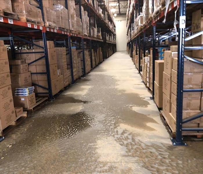 Warehouse flood Before